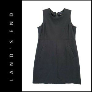 Land's End Women Sleeveless Sheath Dress Black 16P